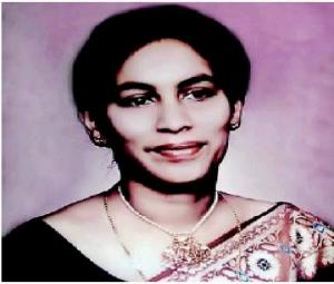 Maheshi Ramasamy's mother, Prof. MP Samaranayake Ramasamy